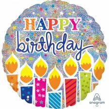 Folienballon Standard Happy Birthday inkl. Helium
