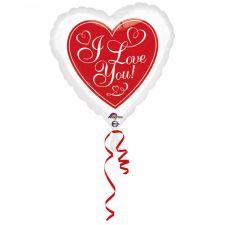 Standard Rote Heisse Liebe Folienballon inkl. Helium