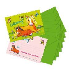 Stanzkarte Einladungs-Set Mein Ponyhof