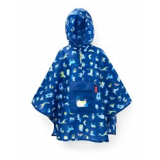 Mini Maxi poncho kids abc friends blue