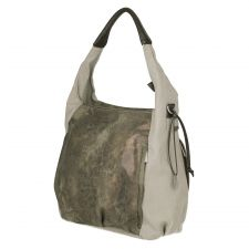 Casual Hobo Bag olive-beige