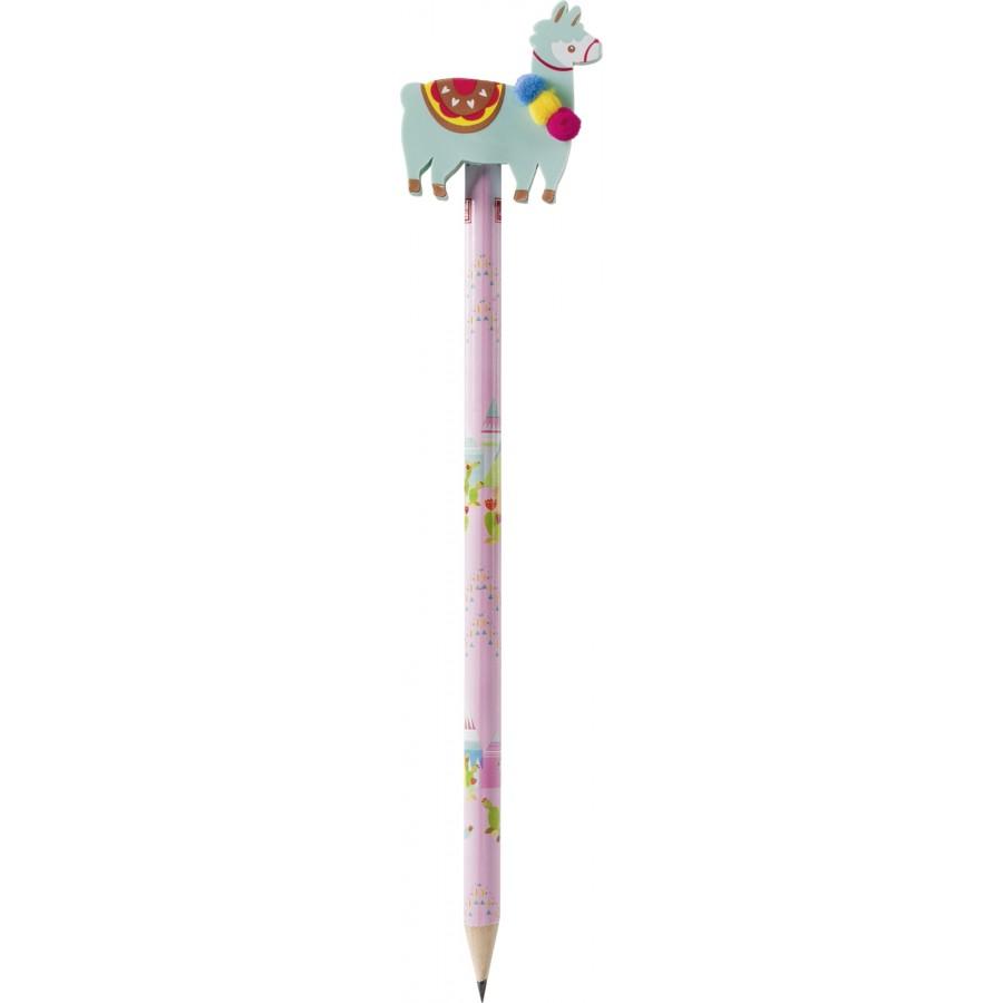 Bleistift mit Radierer Lama