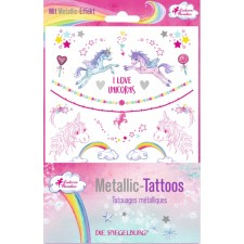 Metallic Tattoos Einhorn-Paradies