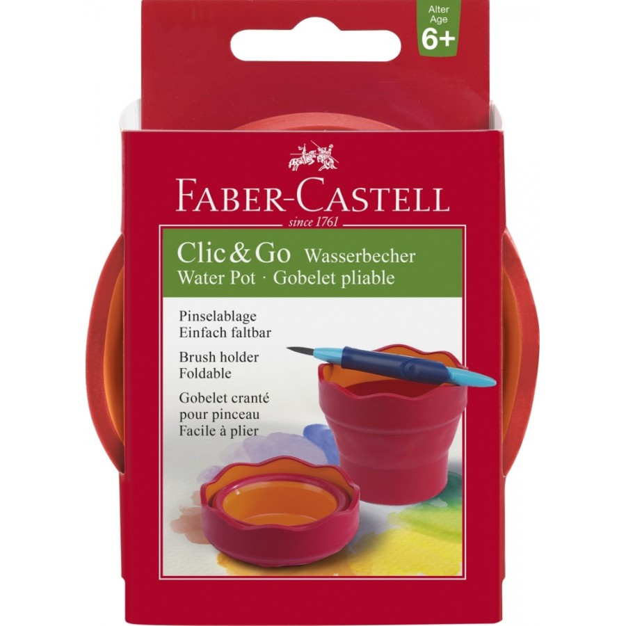 Faber-Castell Wasserbecher CLIC&GO Brombeer