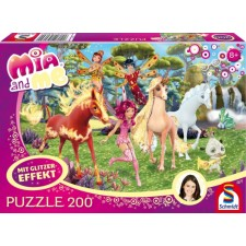 Schmidt Spiele Puzzle Mia and me In Centopia 200 Teile Glitzer