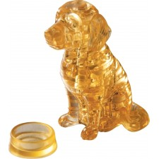 3D Crystal Puzzle - Golden Retriever 41 Teile