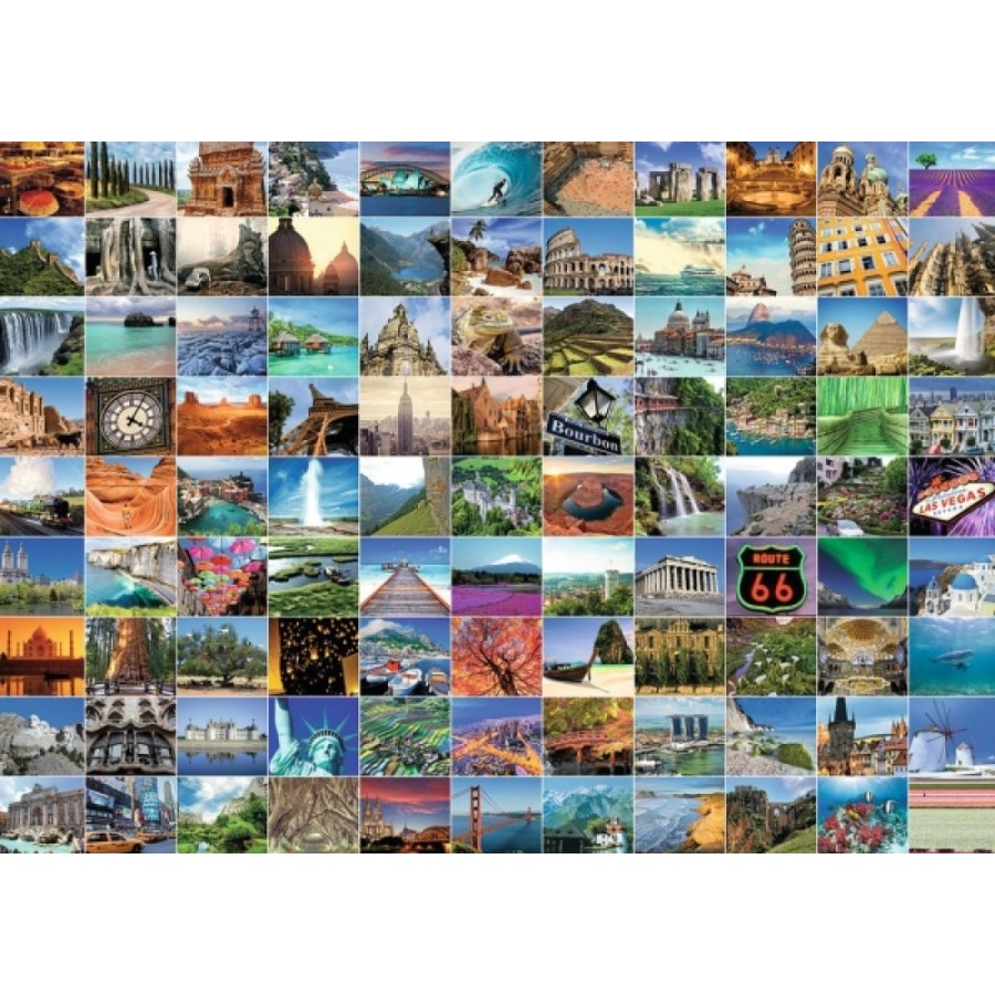 Ravensburger 193714  Puzzle 99 Beautiful Places on Earth 1000 Teile