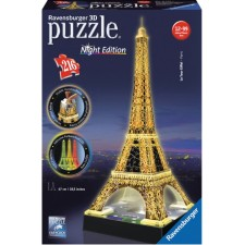 Ravensburger 125791 Puzzle 3D Eiffelturm Night Edition 216 Teile