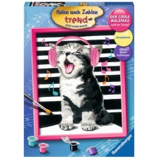 Ravensburger 284313  Malen nach Zahlen - Singing Cat