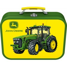 Puzzle-Box im Metallkoffer, John Deere, Puzzle-Box, 2x60, 2x100 Teile