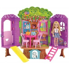 Mattel Barbie Fisher PriceF83 Barbie Chelsea Baumhaus Spielset und Puppe