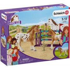 Schleich Horse Club Set Turnier-Training und Pferde Appaloosas