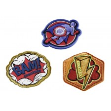 Coocazoo Patches-Set StyleTyle Superhero, 3 Stück