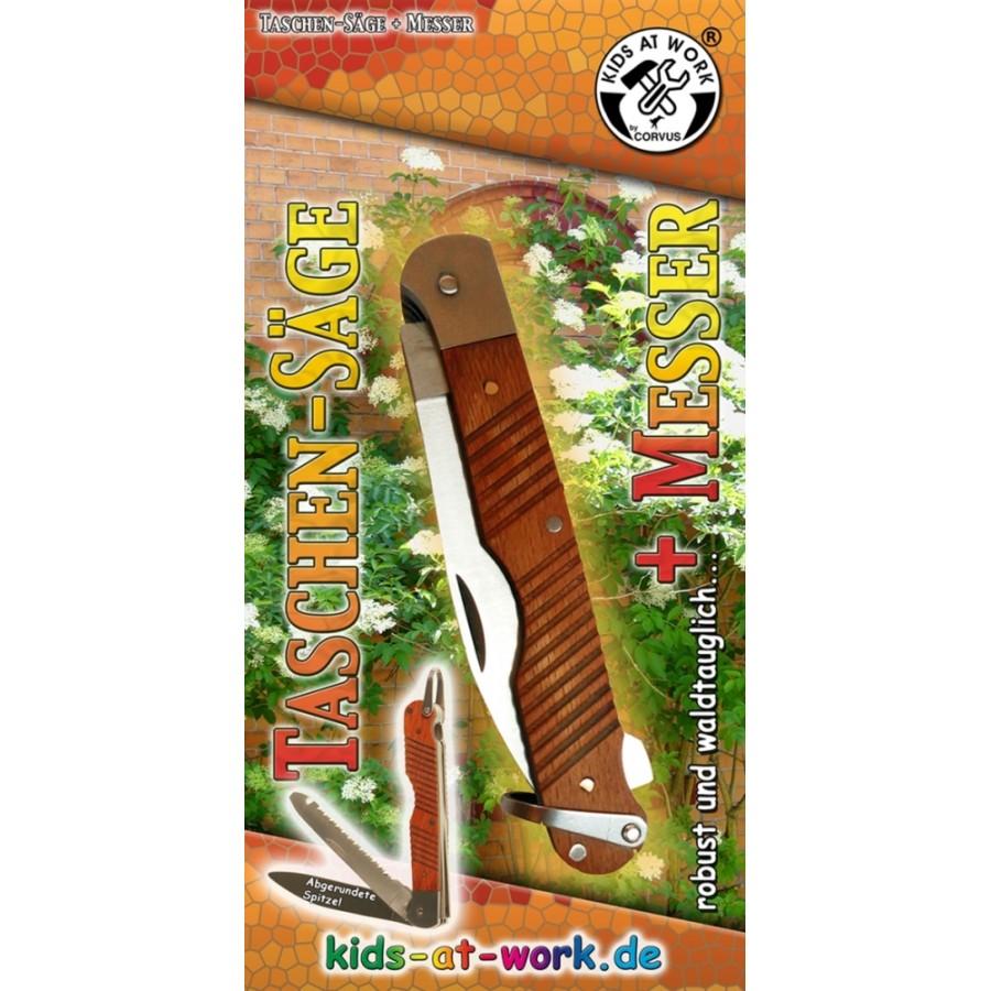 CORVUS Kids at Work Taschensäge mit Messer