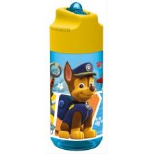 Paw Patrol, Trinkflasche mit integrierte Trinkhalm, 430 ml