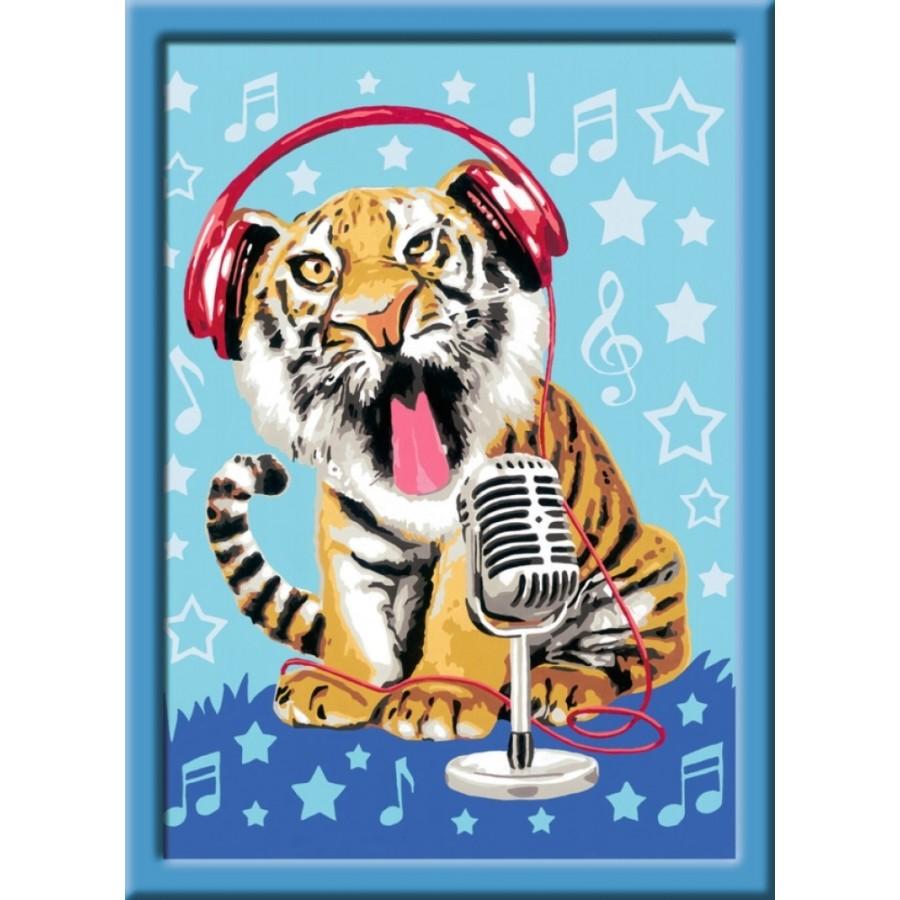 Ravensburger 284580 Malen nach Zahlen: Singing Tiger