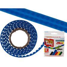 Baustein Tape 125x1,6cm zum Aufkleben blau LEGO kompatibel