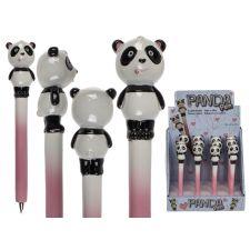 Polyresin Kugelschreiber Panda 16cm sort.
