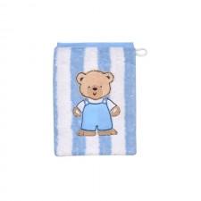 Waschhandschuh Teddey Ringel hellblau
