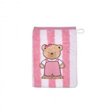 Waschhandschuh Teddy Ringel rosa
