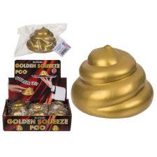 Goldfarbener Squeeze nPoo 8cm