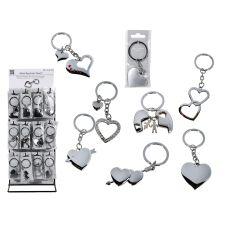 Metall-Schlüsselanhänger Herz 8fach sortiert