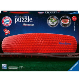 Ravensburger 125302 Puzzle 3D Allianz Arena Night Edition Teile 216 Teile
