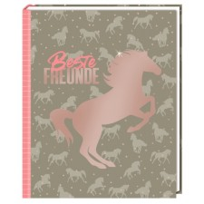 Freundebuch I LOVE HORSES - Beste Freunde (Muster)
