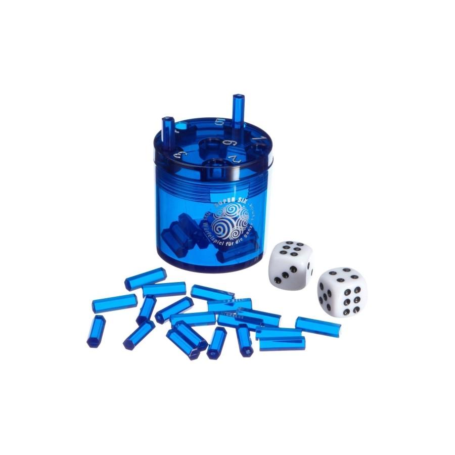 Piatnik 3011 Super Six Kunststoff Blau