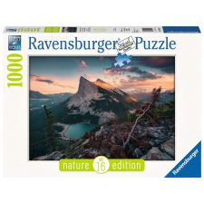Ravensburger 150113 Puzzle: Abends in den Rocky Mountains 1000 Teile