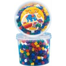 HAMA Bügelperlen Maxi - Dose Vollton Mix 600 Perlen (7 Farben)