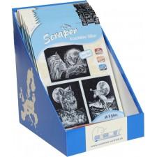 Mammut Scraper Silber 3er Set 20 x 25,5 cm,