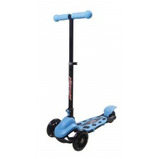 New Sports 3-Wheel Scooter Blau, klappbar, 110 mm