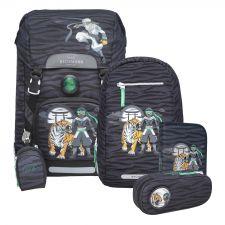 Classic Schulrucksack-Set 4tlg. Ninja Tiger