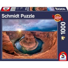 Schmidt Spiele Puzzle Glen Canyon, Horseshoe Bend am Colorado River 1000 Teile
