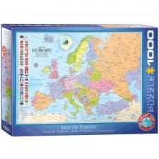 EuroGraphics Puzzle Karte von Europa 1000 Teile