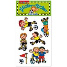 Glitter-Sticker Fussball