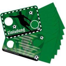 TapirElla Stanzkarte Einladungs-Set Fußball