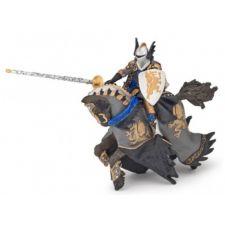 Schwarzer Drachenprinz und Pferd