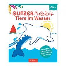 Glitzer-Malblock ab 2:Tiere im Wasser