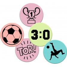 Zungentattoos Fußball Wild+Cool (Esspapier-Oblaten)
