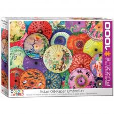EuroGraphics Puzzle Asiatische Ölpapierschirme 1000 Teile