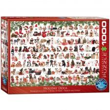 EuroGraphics Puzzle Weihnachtshunde 1000 Teile