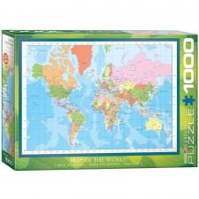 EuroGraphics Puzzle Weltkarte 1000 Teile