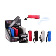 Taschenlampe 9 LED Batterien enthalten