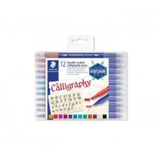 calligraph duo, 12 Marker, 2 Spitzen-Modell