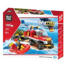 Blocki MyFire Truck mit Schnellboot