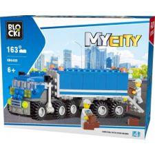 Blocki MyCity LKW mit Auflieger