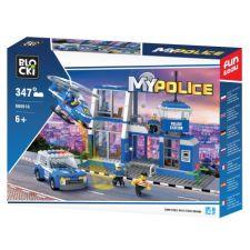 Blocki MyPolice Polizeistation mit Auto und Hubschrauber