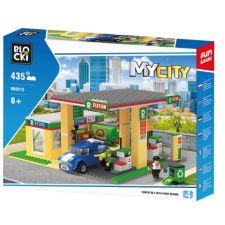 Blocki My City Tankstelle mit Waschanlage